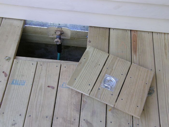 Build A Trap Door In Your Deck Floor To Access Hidden Garden Hose
