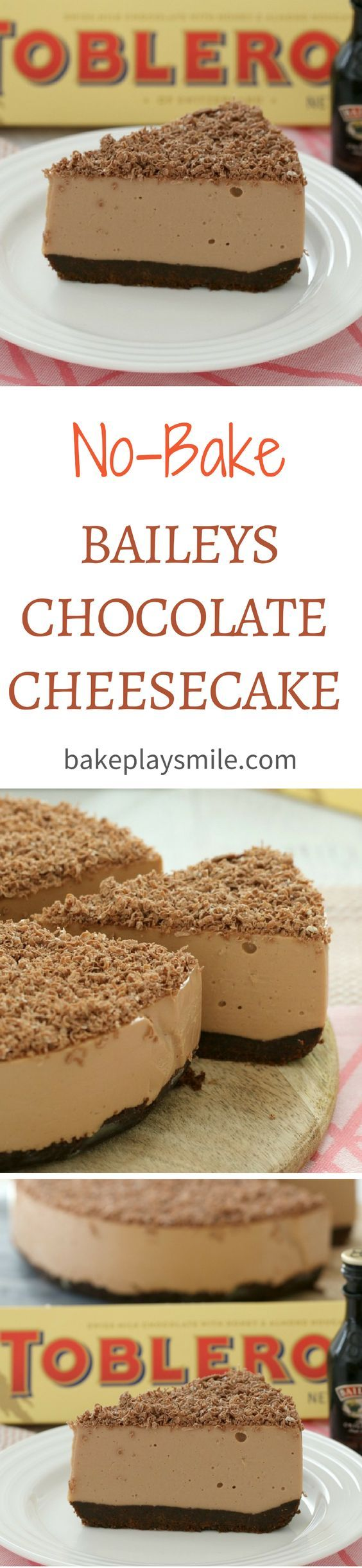 No-Bake Baileys Chocolate Cheesecake