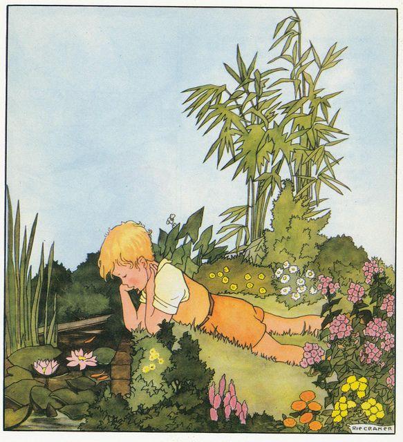 Rie Cramer Het jaar rond editie 1978 ill de vijver