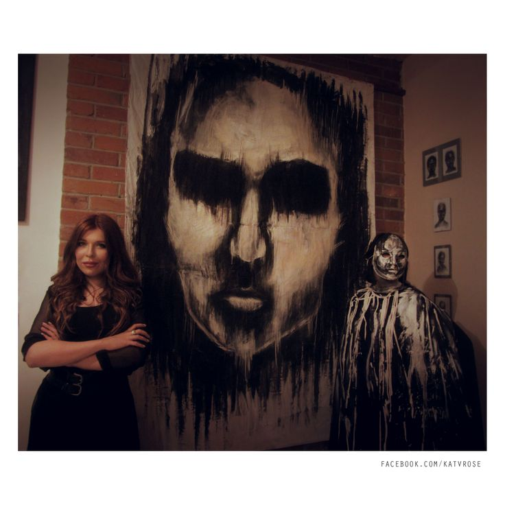 Opening of Art Festival. Kat von Rose's exhibition.   #katvonrose #kat #von #rose #exhibition #art #artfestival #painting #costume #dark #kvr #drawing #black