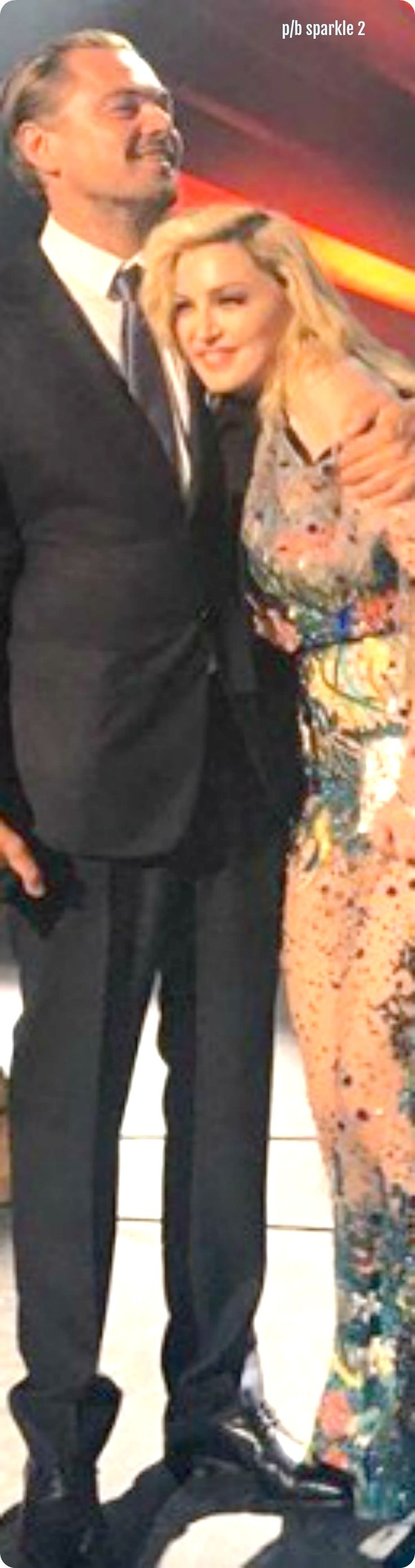 Leonardo DiCaprio and Madonna at the Leonardo DiCaprio Foundation Gala in St. Tropez, France, July 2017
