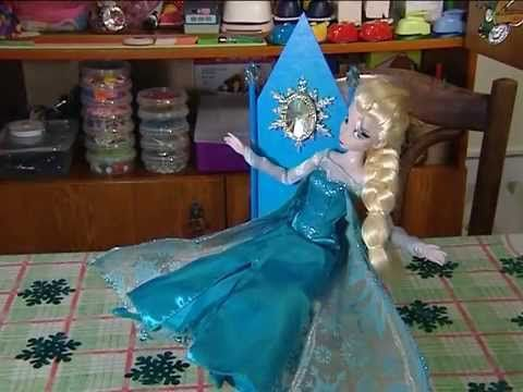 HAND MADE Кукольный трон «Холодное сердце»