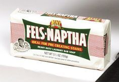 "fels-naptha soap for poison ivy. An older & wise lady said ""when you come in, after being around poison ivy, if you shower with this soap you'll never break out!"""