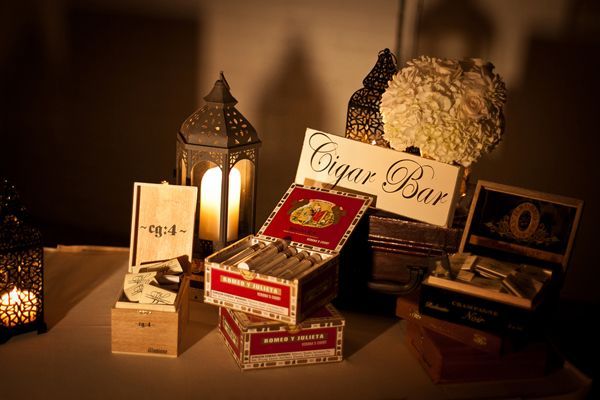 cigar bar! a surprise for the groom | Cunningham Photo Artists #wedding