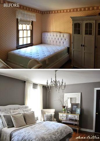 schlafzimmer grau beige mit kommode
