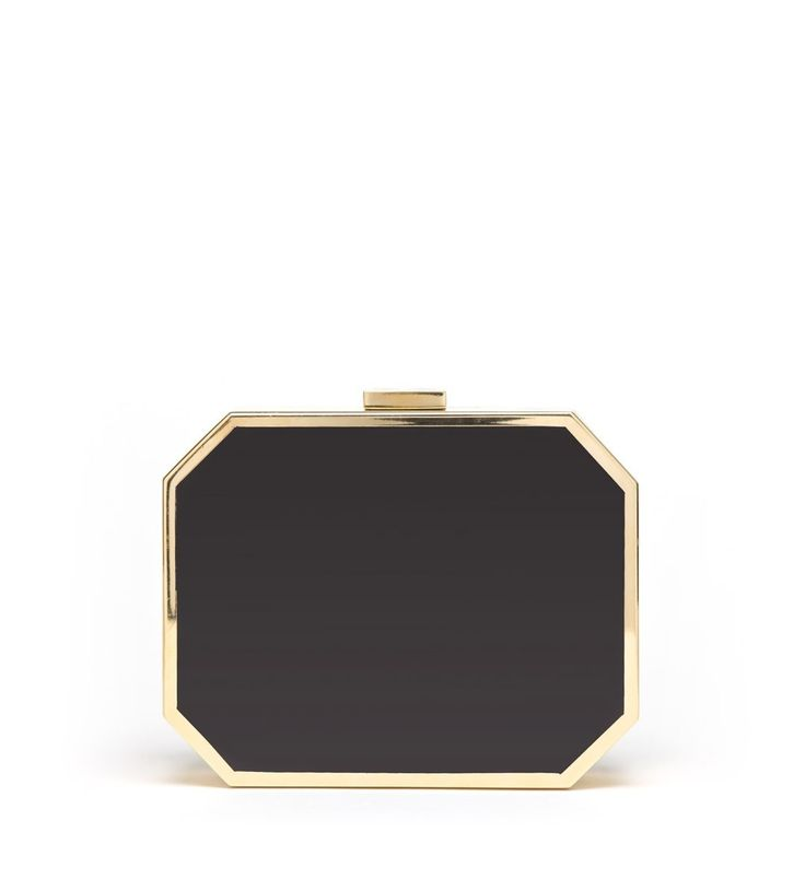 Octagon Clutch Black with Gold Jill Milan $2500 #jillmilan