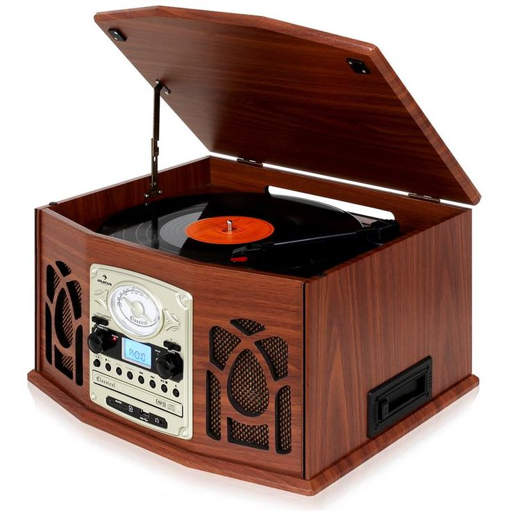 auna nr 620 retro record player turntable cd mp3 usb sd tape radio wood click to enlarge image. Black Bedroom Furniture Sets. Home Design Ideas