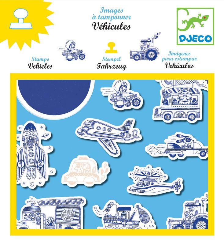 Djeco Vehicles Stamps