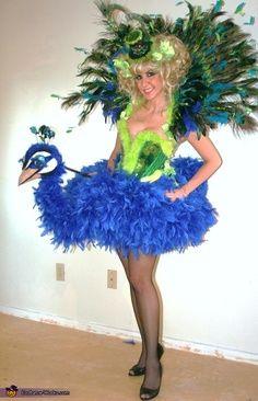 diy halloween peacock dress -
