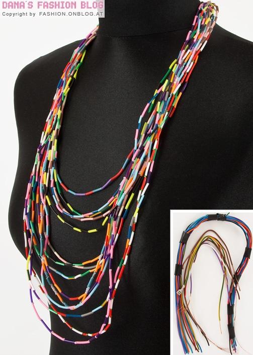 morceaux de scoubidou #DIY #jewels #necklace #scoubidou