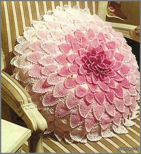 Crochet: PILLOW GEORGINKA crochet pillow♥LCP-MRS♥ with diagram