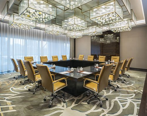 The Zhong Hua meeting room at The Grand Mansion, A Luxury Collection Hotel, Nanjing by HBA Design