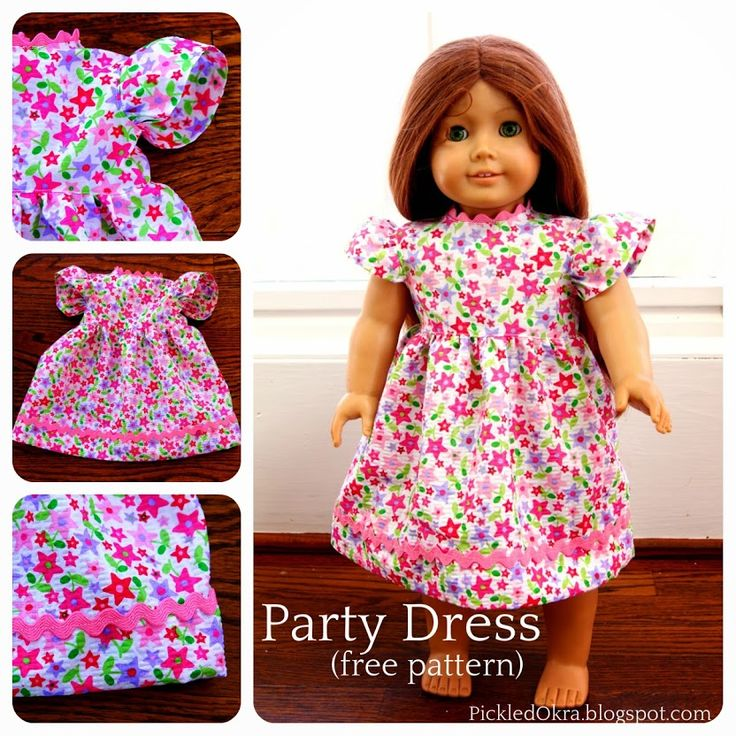Pickled Okra by Charlie: Free Party Dress Pattern for Your American Girl Do...