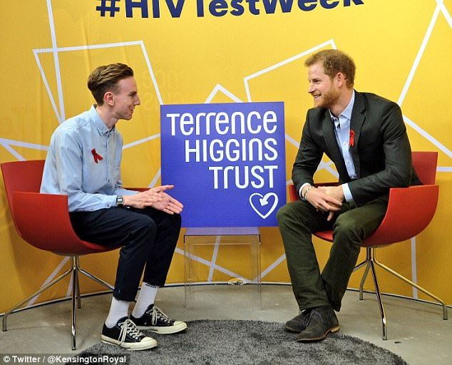 Harry chatted to Andrew Bates, who was found to be HIV positive in 2015 and spoke to the P...