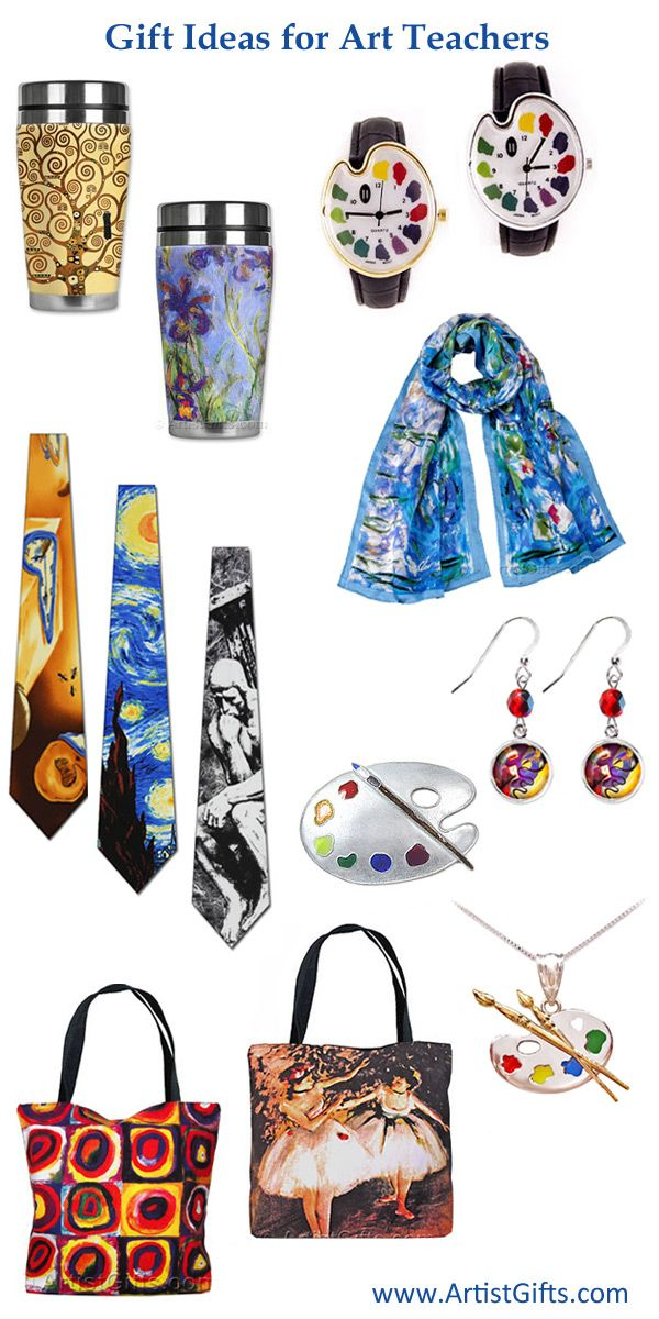 Find Hundreds of Art Teacher Gifts and Gift Ideas with Free Shipping Everyday at www.ArtistGifts.com.