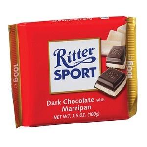 Mmmmm...my favorite...Dark Chocolate Marzipan from Ritter Sport!