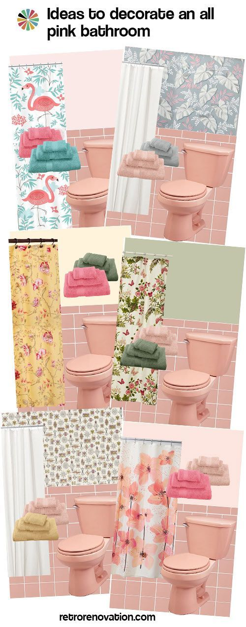 13 ideas to decorate an allpink tile bathroom