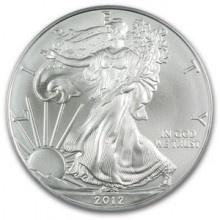 Zilveren Munten Kopen kan bij Dutch Bullion, zoals deze Zilveren American Eagle 1 troy ounce 2012 Zilveren Munt. Voor een overzicht van al onze zilveren munten kunt u kijken op: https://www.dutchbullion.nl/Zilver-Kopen/Zilveren-munten/