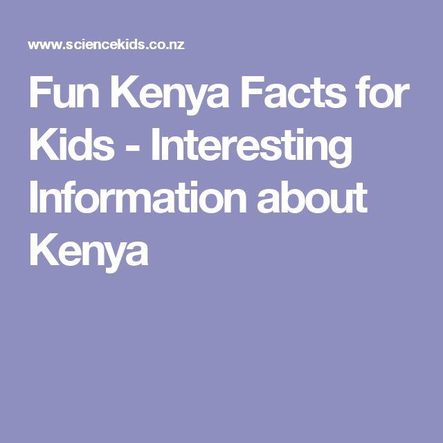 Fun Kenya Facts for Kids - Interesting Information about Kenya