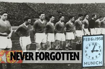 Manchester United Remembers Its Fallen Heroes     Manchester United marked the 59th anniversary of the Munich Air Disaster on Monday by holding a memorial service at Old Trafford. Eight United players were among 23 people who died when their plane crashed as it tried to take off from Munich-Riem Airport on February 6 1958.Hundreds of United fans gathered at Old Trafford by the Munich memorial on Monday and a minute's silence took place at 15:04 - which was the time when the accident took…