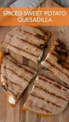 Spicy and sweet is exactly what this quesadilla is!