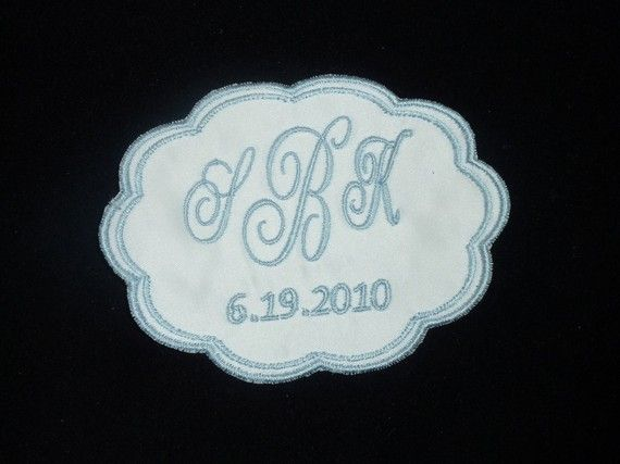 Wedding Dress Label  Scallop by TimelessEmbroidery on Etsy