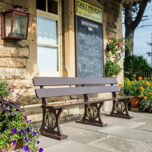 6 seater Great Western Railway Platform Bench.