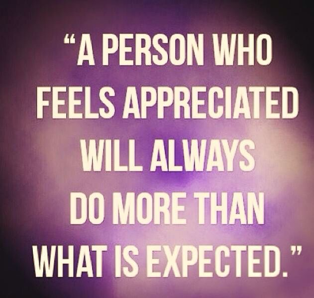 A person who feels appreciated will always do more than ...
