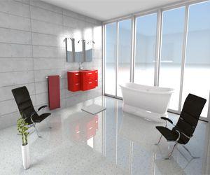 logiciel de decoration 3D gratuit pour construire une harmonie de couleur entre la peinture murale, la couleur du revêtement de sol et celle du mobilier
