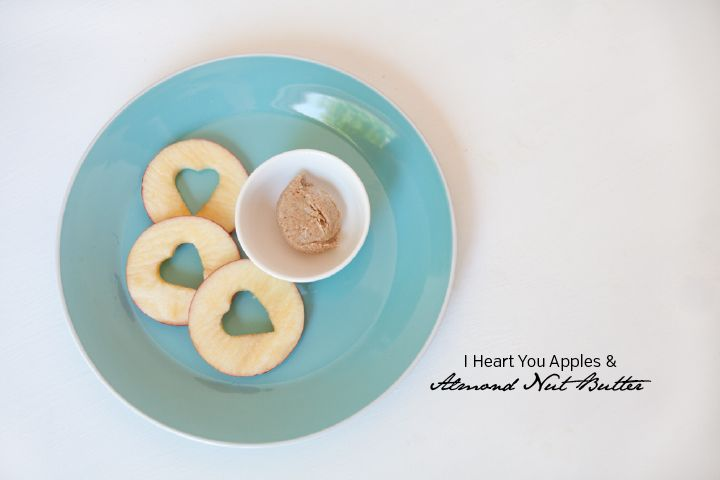 I Heart Apple + nut butter- Clean Living Chronicles