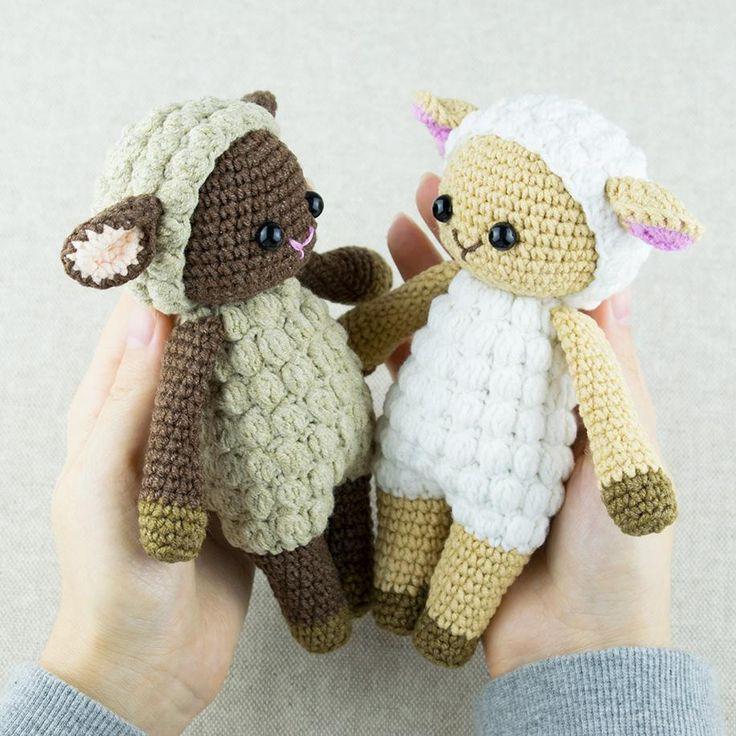 Amigurumi sheep plush toy pattern – printable PDF