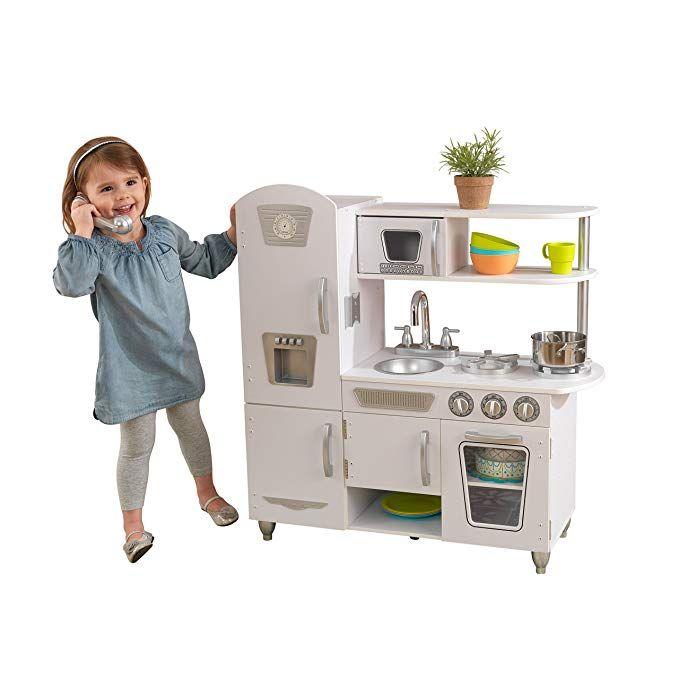 Amazon Com Kidkraft Vintage Kitchen White Toys Games White Kitchen Vintage Vintage Kitchen Kidkraft Kitchen