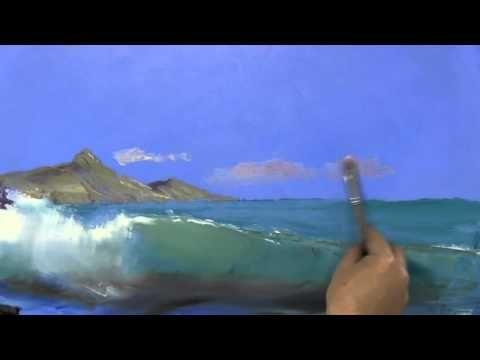 Игорь Сахаров, научиться рисовать море, волну, морской пейзаж - YouTube