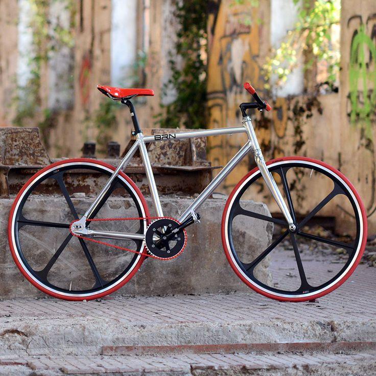 "BRN Fixed Bike - Aluminium ""Cromovelata"" www.bernardisrl.net"