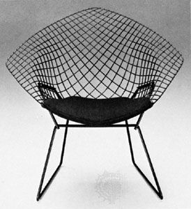 The Bertoia Chair, Designed By Italian Sculptor, Artist, And Modern  Furniture Designer Harry Bertoia.