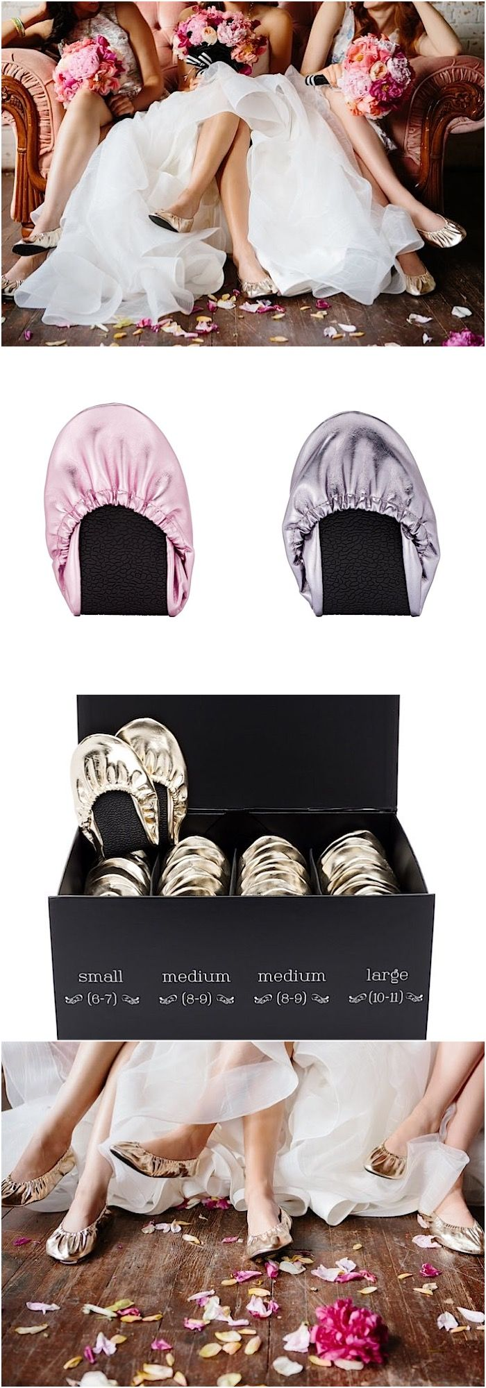Bridesmaid Gift Idea: The perfect treat for your guests' feet, check out rescueflats.com and their limited edition colors in lavender and blush! And take 10% off with promo code MOD10.