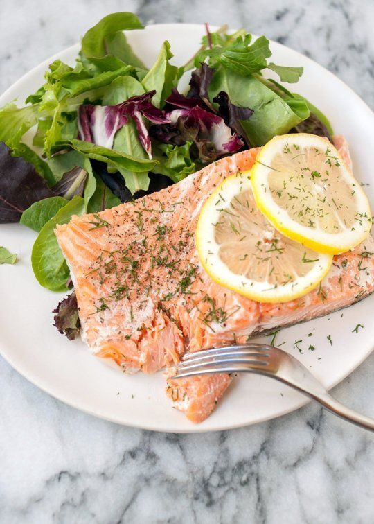 Salmon from the slow cooker