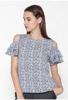 Devia Off Shoulder Blouse from Agatha in blue_1