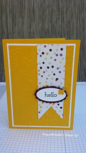 Stampin up lovely lace tief with moonlight dsp & a dozen thoughts stamp set.