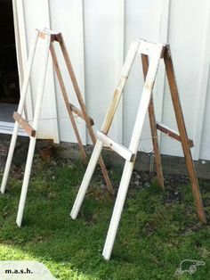 Home-made easels
