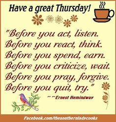 Have A Great Thursday Quotes. QuotesGram by @quotesgram