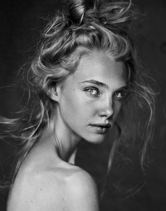 Black And White Portrait Hair