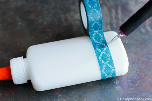 Personalized School Supplies {Washi Tape}