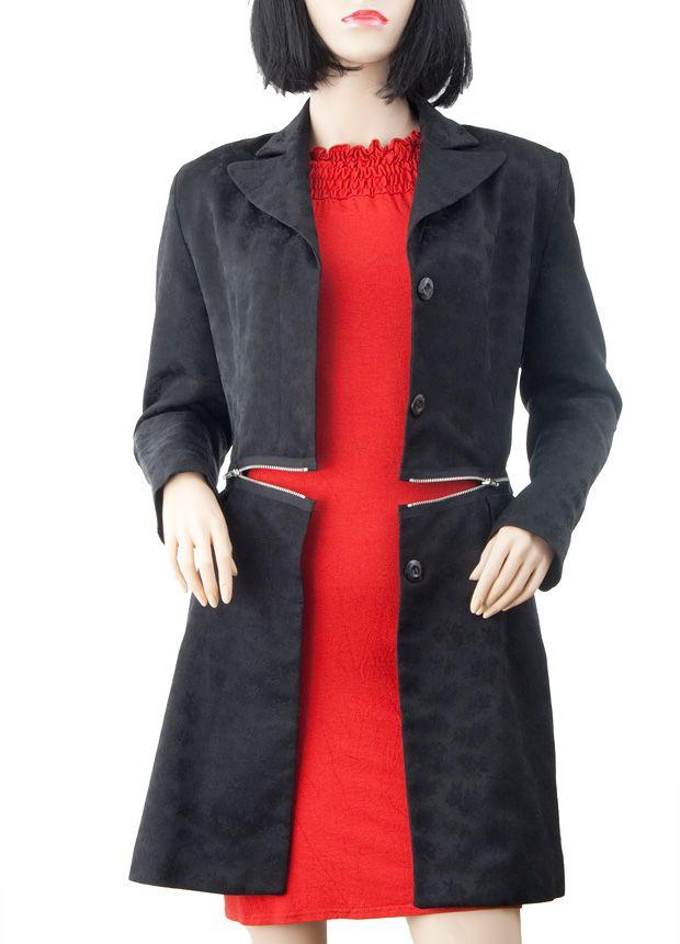 DIY Tutorial: Alten Mantel mit Reißverschlüssen zum wahren Designer-Teil aufpeppen