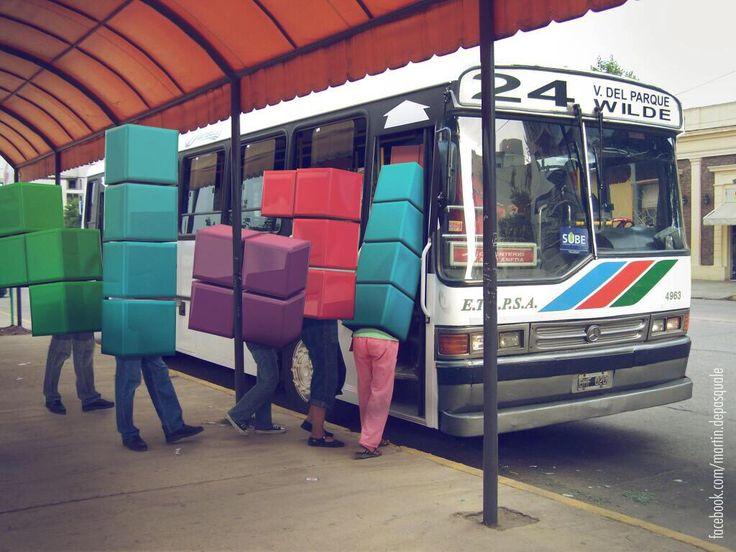 Viajar en bondi, nivel Argentina.