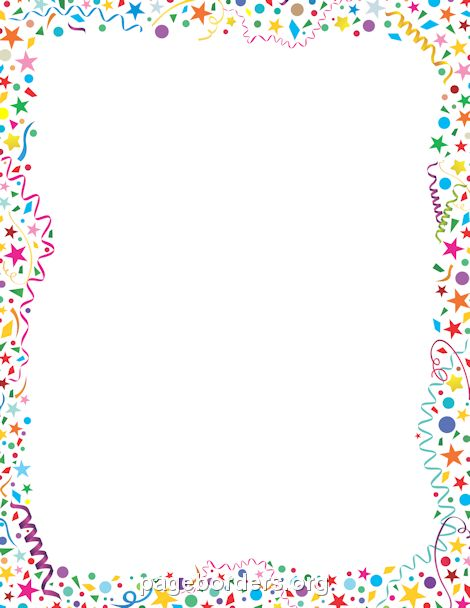 <<DIRECTLY FROM SITE>> Confetti Border