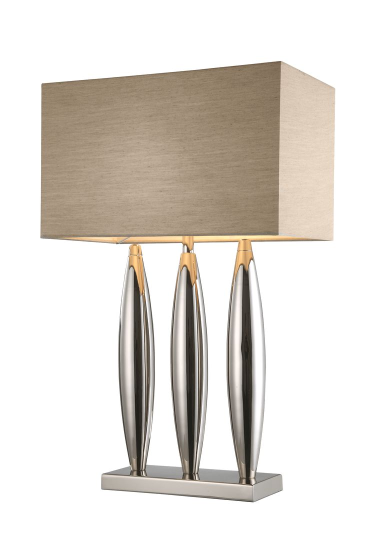 The Dari Nickel Table Lamp by RV Astley boasts a frame finish in chrome/nickel, with a cream light shade. Part of the Dari range, this beautiful floor lamp is the perfect compliment to a minimalist living room.