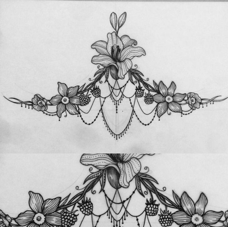 Sternum / Under Boob tattoo