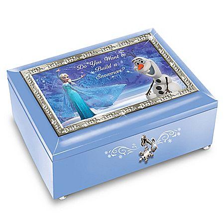 Disney FROZEN Blue Music Box: Plays Do You Want To Build A Snowman