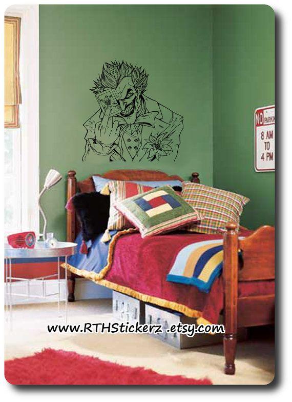 THE JOKER Inspired DiY Wall Art. Self Stick Vinyl by RTHStickerz, $10.95